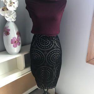 Dresses & Skirts - George Plus Size Laser Cut Out Black Skirt